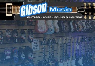 "Gibson Music – of  Ashton-under-Lyne invite you to their ""Backstage Cafe."""