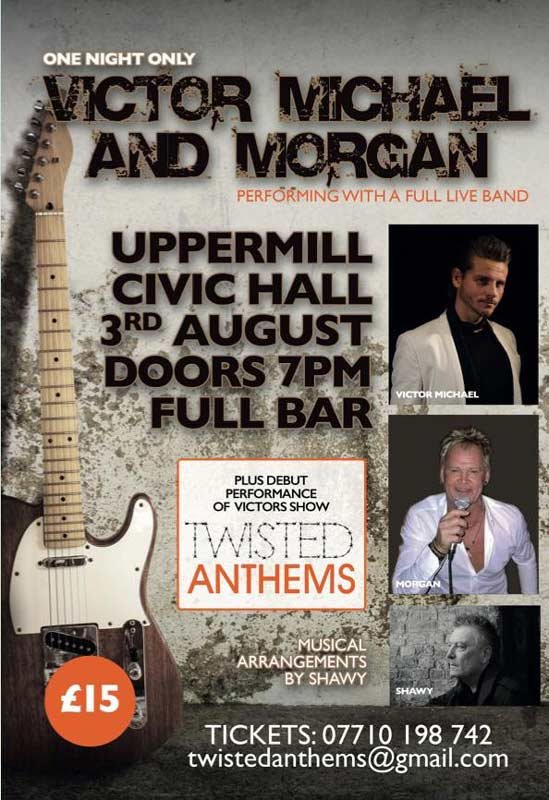 Uppermill Civic Hall presents Victor Michael & Morgan