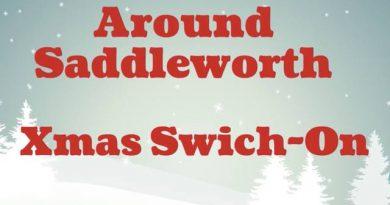Around Saddleworth Xmas lights Switch On.