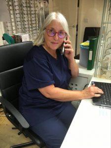 ALlegro-OPtical-Josie-taking-emergency-calls